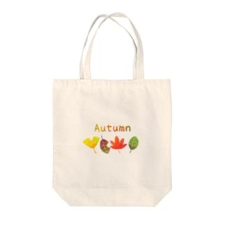 絵村屋の秋の葉 Tote bags