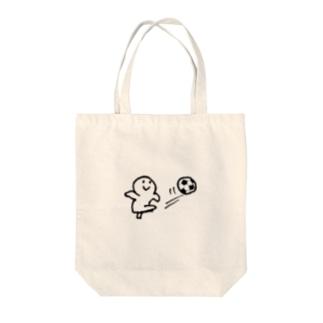 サッカー選手!丸さん Tote bags