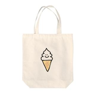 ソフトクリームちゃん Tote bags