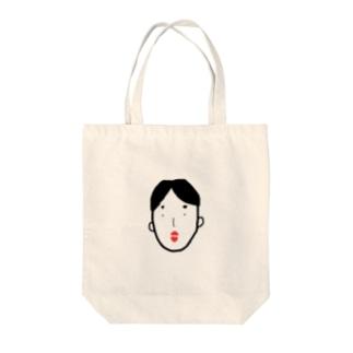tomochan_deshuのパパ Tote bags