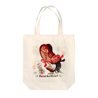 ねことりむし★CAT BIRD INSECTのPARENT AND CHILD?(remake) Tote bags
