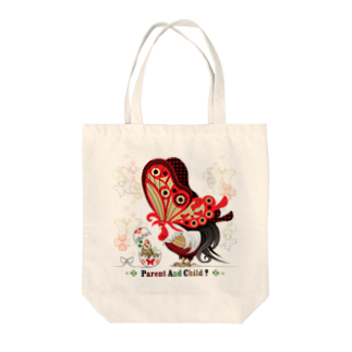 ねことりむし★CAT BIRD INSECTのPARENT AND CHILD?(remake) Tote bags