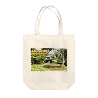 FUCHSGOLDの日本の城:土浦城 Japanese castle: Tsuchiura castle★Recommend for white base products only !!  Tote bags