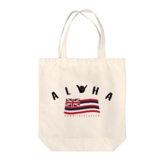 Aloha Flag Tote bags
