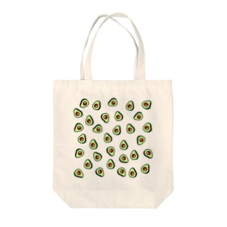 JapaneseRubberStampsのアボカドット Tote bags