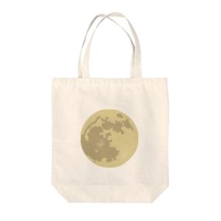 pochette design studioの満月イラスト Tote bags