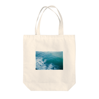 cozcozの海のあお Tote bags
