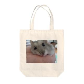 見つめるハム Tote bags