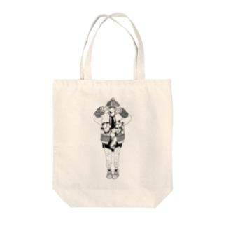 -Hyuga-のぴーす(線画のみ) Tote bags