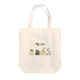 Four cats Tote bags
