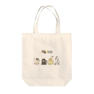 """しろの""""猫""""な雑貨店のFour cats Tote bags"""