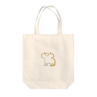 楕円形の顔のネコ Tote bags
