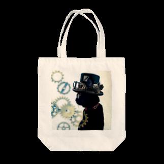 こばぶ〜/KOBABOOのくろまめさん Tote bags