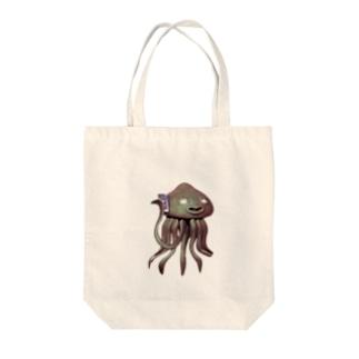 エイリアン通話中 Tote bags