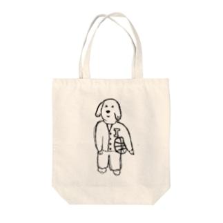 バスケ犬 Tote bags