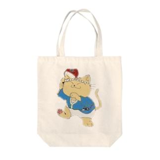 踊り猫 Tote bags