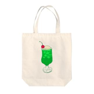 NIKORASU GOのメロンクリームソーダ@文字なし Tote bags