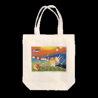 せみSHOPの【版画】海の中のお花畑 Tote bags