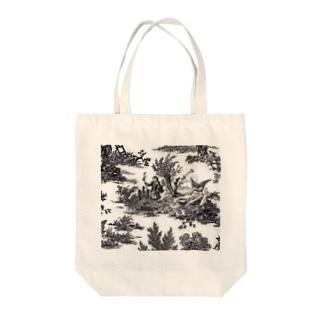 J. Jeffery Print Galleryのトワルドジュイ Toile de Jouy Tote bags