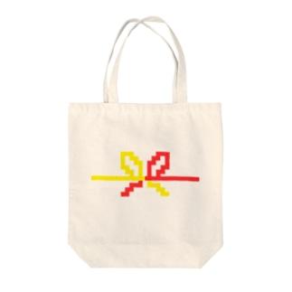 ドット水引(花結び) Tote bags