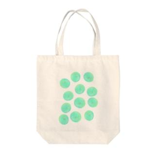 水草のグリーン玉いっぱい Tote bags