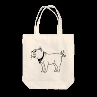 Aliviostaのフレンチブルドッグ しっぽをふる 動物イラスト Tote bags