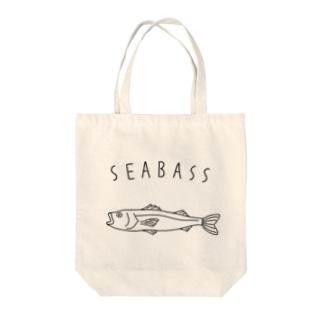Aliviostaのシーバス スズキ ゆるい魚イラスト 釣り Tote bags