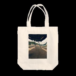 密室の駅のホーム Tote bags