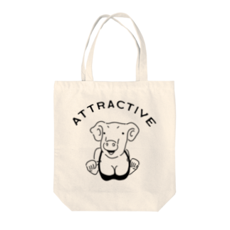 AliviostaのAttractive pig 魅力的なブタ 動物イラスト アメカジ Tote bags