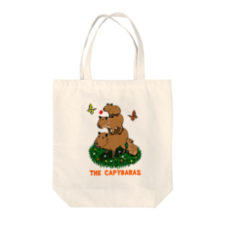 令和堂のthe capybaras Tote bags