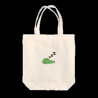 がつのおやすみカエル Tote bags