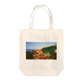 夏祭り 屋台 フィルム写真 Tote bags