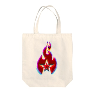 FIRE STAR Tote bags