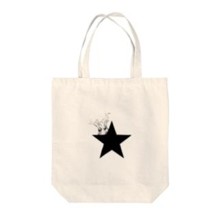 yosimusiのブラックスター 005(Blackstar 005)with パキポディウム(Pachypodium) Tote bags