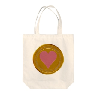 Love coin Tote bags