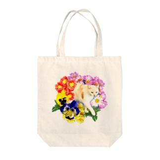 お花のトンネル Tote bags