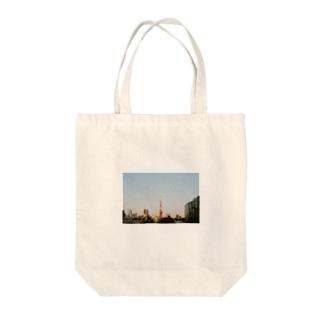 Shogo Hirokiの東京タワー Tote bags