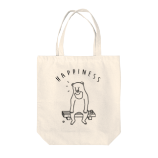 AliviostaのHappiness クマ 熊 動物イラスト Tote bags