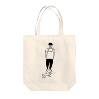 Move ヒトとネコ イラスト Tote bags
