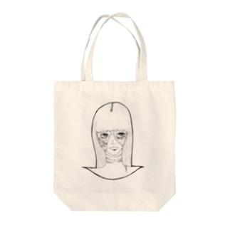 ハロウィンゾンビ女その2 Tote bags