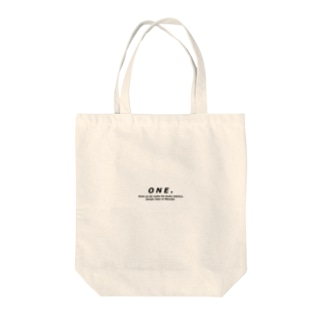 ONE. Tote bags
