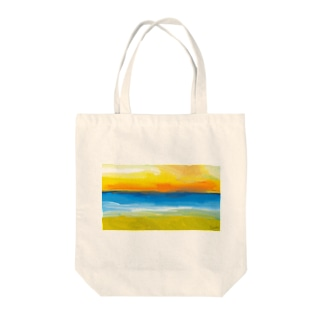 Stories by beach - Kamala Tote bags