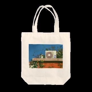 高架舎の室外機 Tote bags