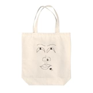 うひょ Tote bags
