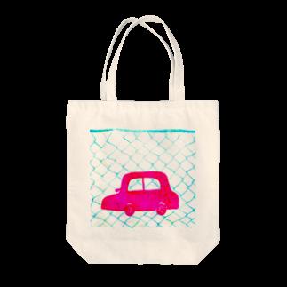 しがないななしSHOPのピンクの車 Tote bags