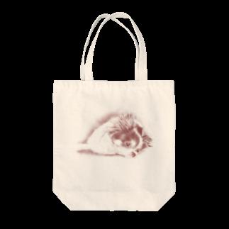 MriHoのだらりと寝そべるチワワ Tote bags