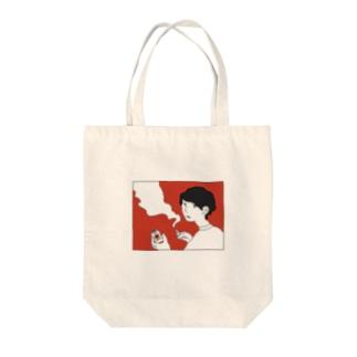 ヤニカスパイセン Tote bags
