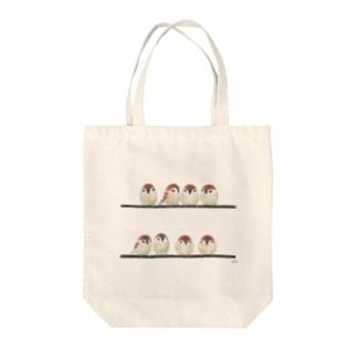 -SUZUME No.5- Bird call Tote bags
