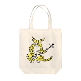 大津絵・猫に三味線 Tote bags