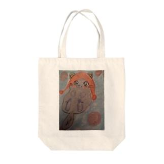 ニット帽猫ちゃん Tote bags
